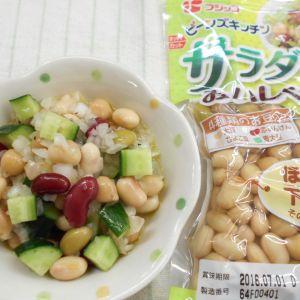 サラダ豆ときゅうりのサラダ