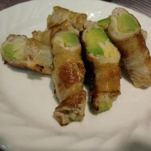 四方竹とアボカドの肉巻