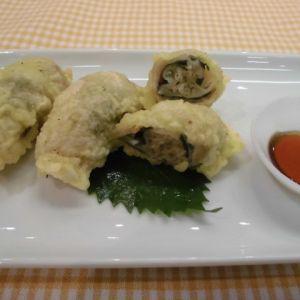 餃子の肉巻き天ぷら