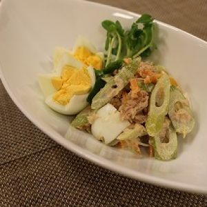 四方竹とツナのサラダ