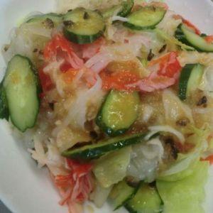 コンニャク麺のサラダ