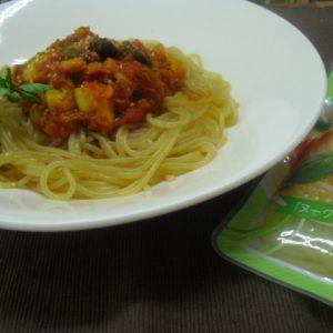 ズッキーニと大豆のミートソース