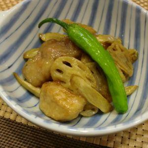 豚肉と根菜の黒酢和え
