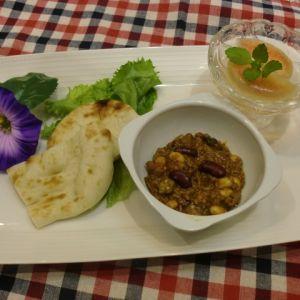 夏野菜とサラダ豆のキーマカレー