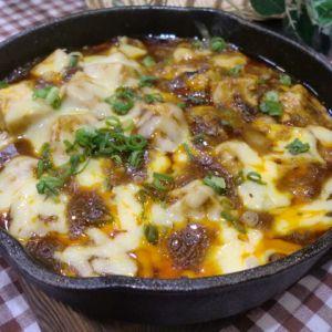麻婆豆腐のチーズ焼き ★スキレット使用