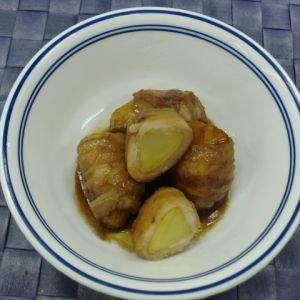 揚げじゃが芋の豚肉巻きだし醤油煮