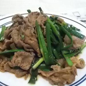 高知野菜レシピ♪牛肉と ニラのオイスターソース炒め