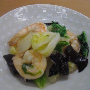 白菜ときくらげの 中華風炒め物