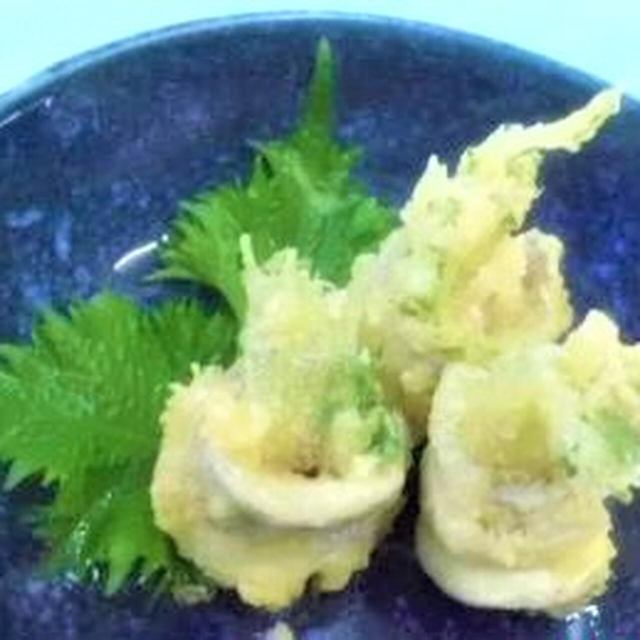 太刀魚の梅肉包み天ぷら
