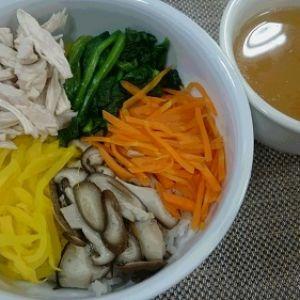 七草で十穀鍋つゆの鶏飯