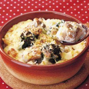 牛乳と米粉で作る チキン&マカロニグラタン
