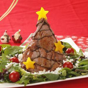 ローストビーフの クリスマスツリー