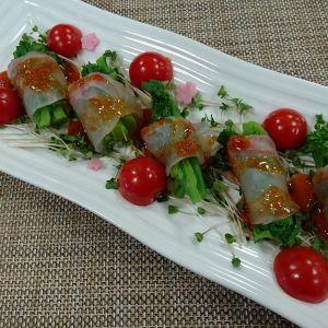 鯛と菜花のピリ辛お刺身サラダ