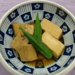 めかじきまぐろと豆腐の煮付け