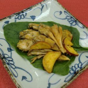 牡蠣のソテー!舞茸とさつま芋のガーリック&トマト風味
