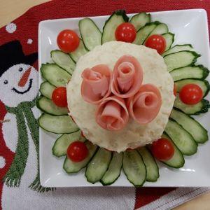 ロースハムのポテトサラダケーキ