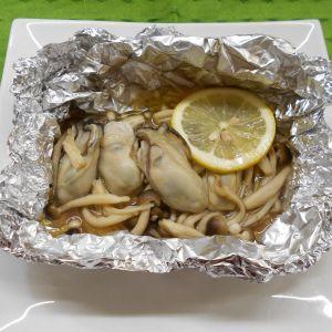 牡蠣と茸のホイル焼き