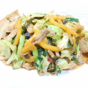 ニラタレで野菜炒め