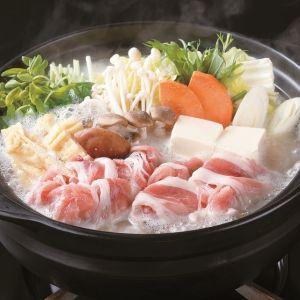 ハリハリ豆苗と豆乳発酵鍋
