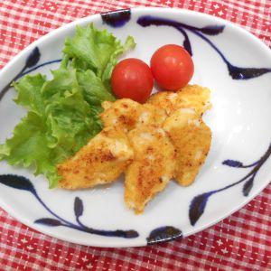 鶏ムネ肉のチーズパン粉焼き
