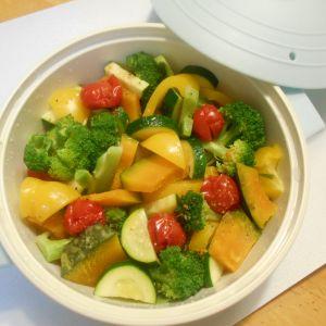 レンジでチン♪♪ たっぷり夏野菜で蒸し鍋