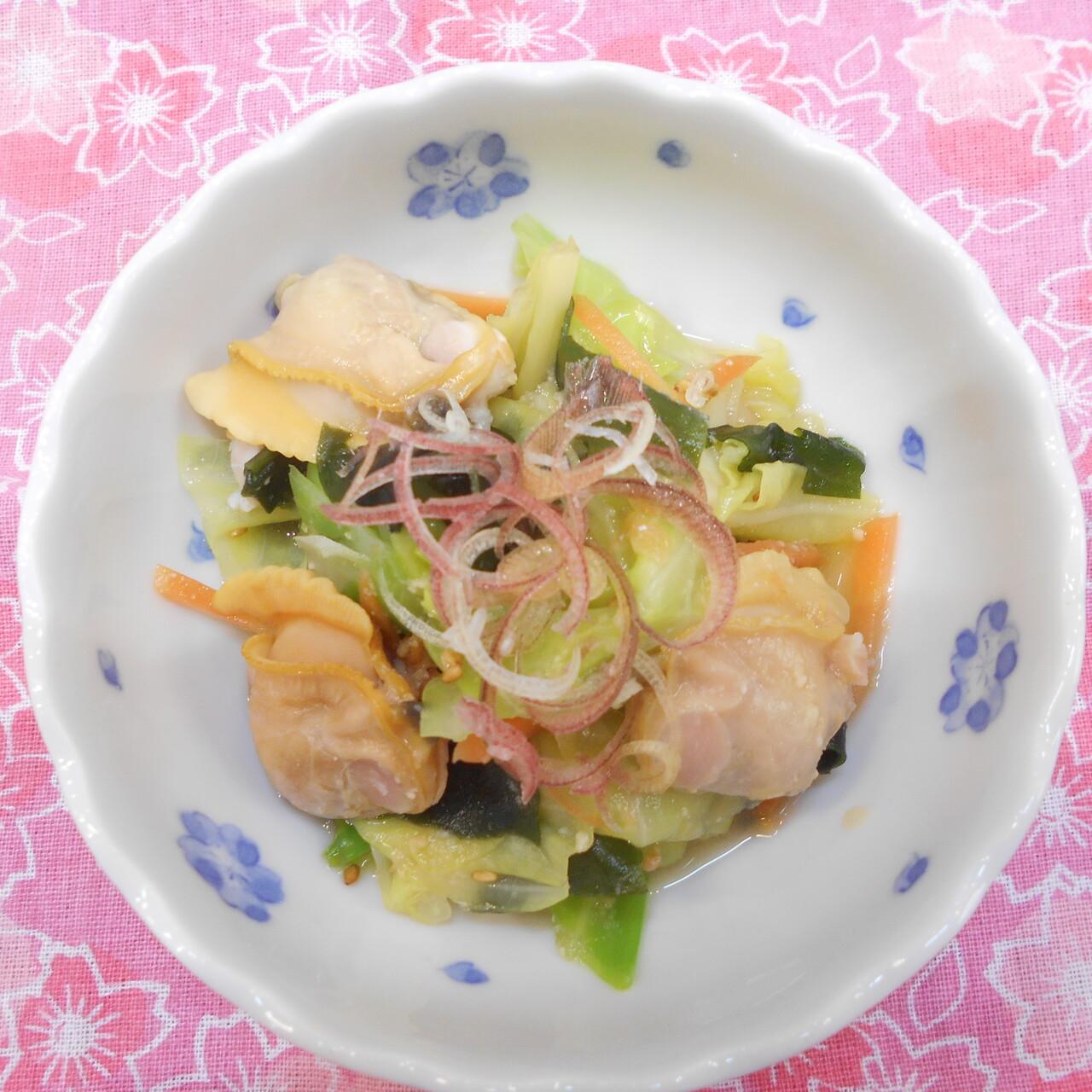 春キャベツとホンビノス貝の酢味噌和え