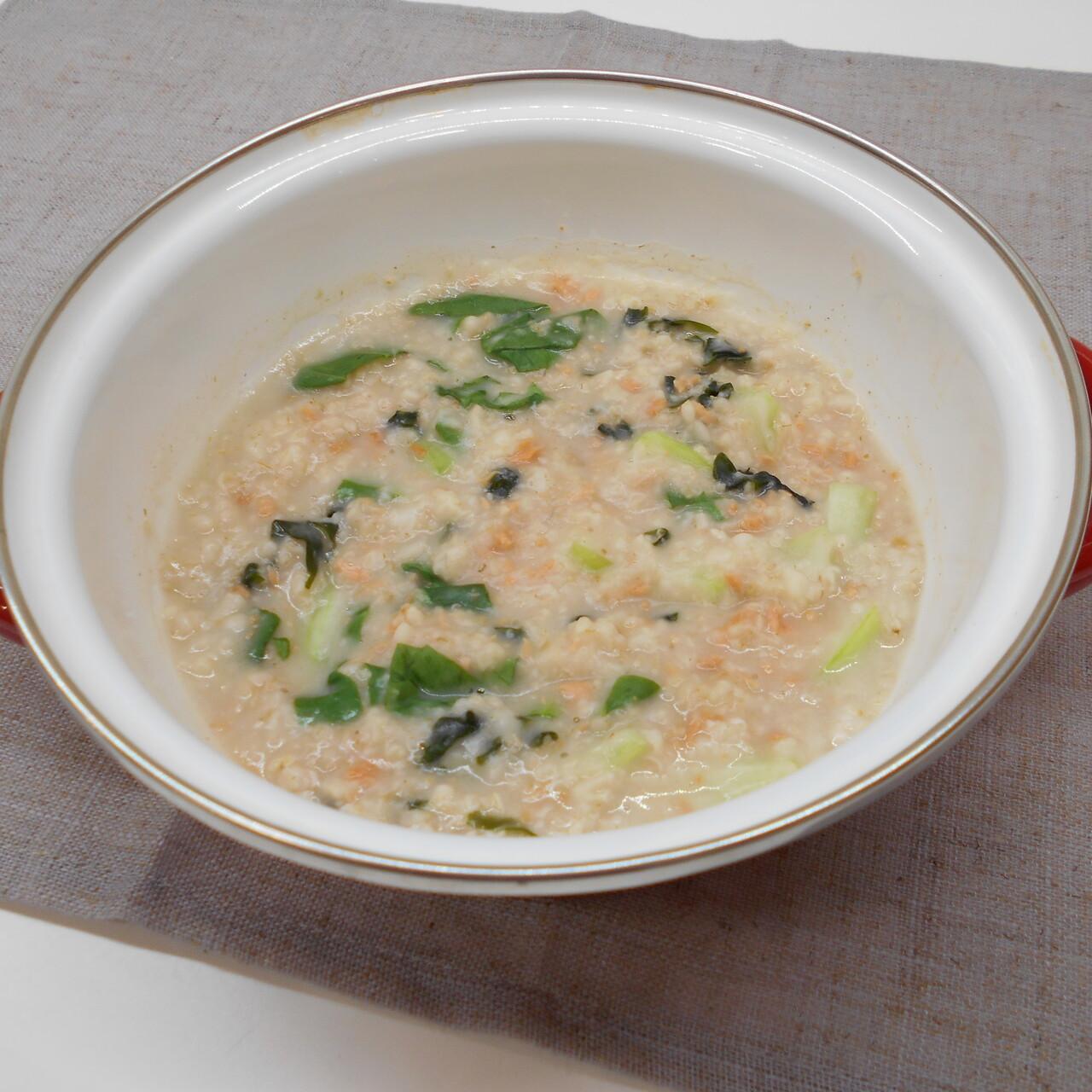 鮭フレークで簡単オートミール粥