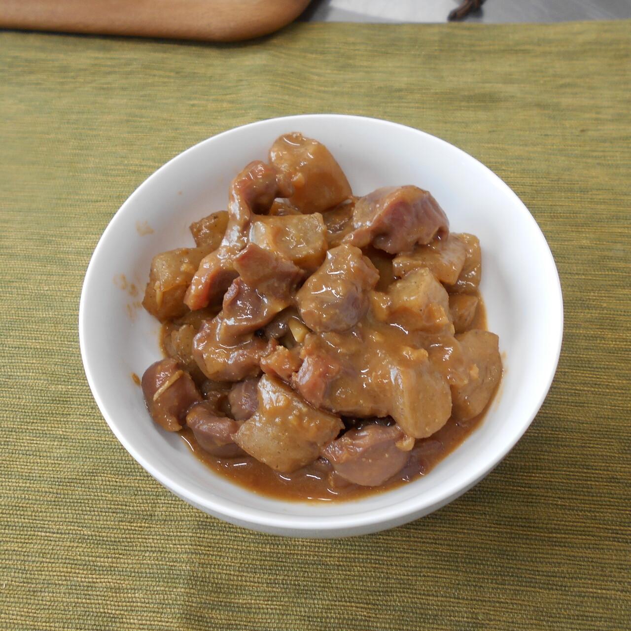 鶏肝の味噌煮込み